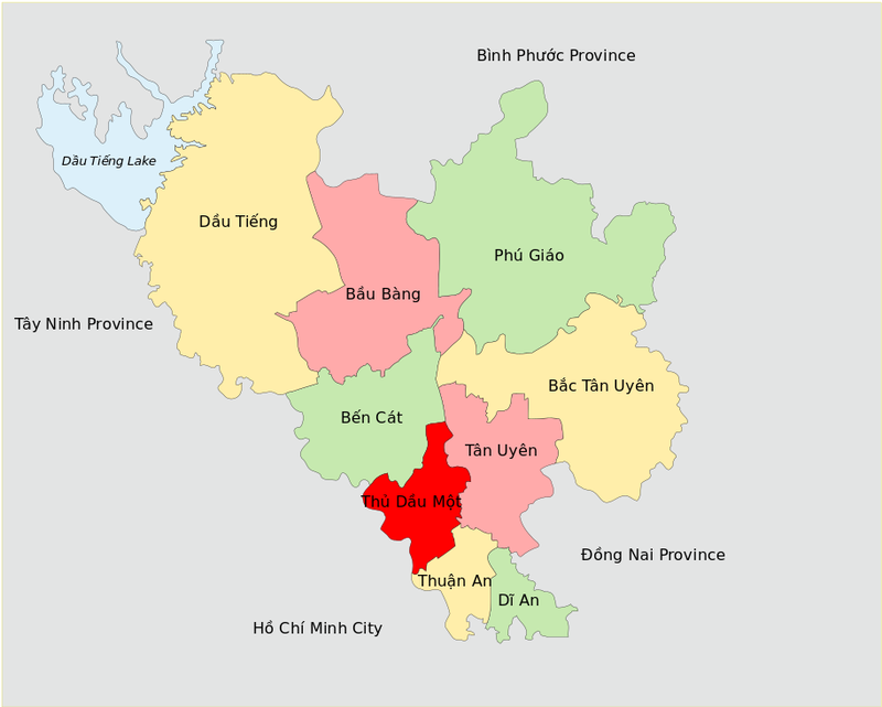 Divisions Of Binh Duong Province